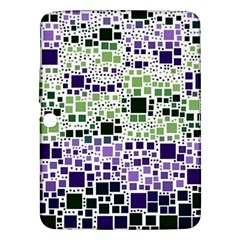 Block On Block, Purple Samsung Galaxy Tab 3 (10 1 ) P5200 Hardshell Case  by MoreColorsinLife