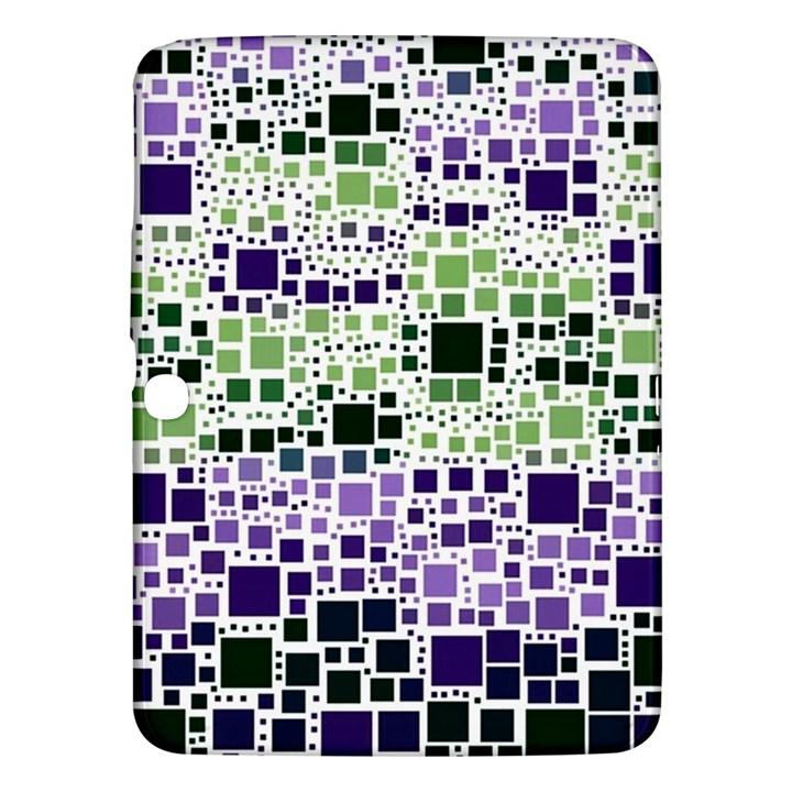 Block On Block, Purple Samsung Galaxy Tab 3 (10.1 ) P5200 Hardshell Case