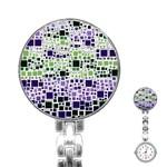 Block On Block, Purple Stainless Steel Nurses Watch