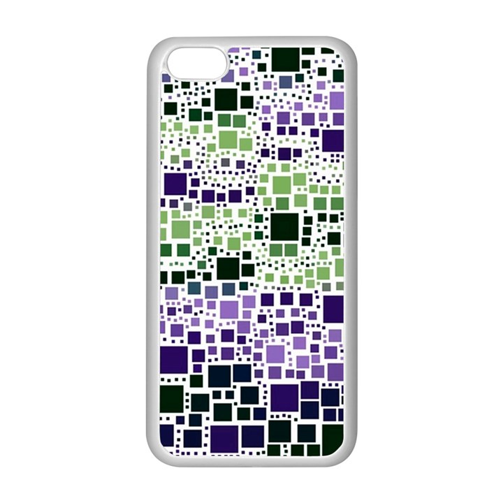 Block On Block, Purple Apple iPhone 5C Seamless Case (White)