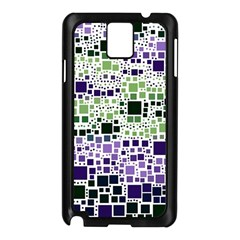 Block On Block, Purple Samsung Galaxy Note 3 N9005 Case (black) by MoreColorsinLife