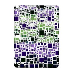 Block On Block, Purple Samsung Galaxy Note 10 1 (p600) Hardshell Case by MoreColorsinLife