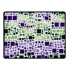 Block On Block, Purple Double Sided Fleece Blanket (small)  by MoreColorsinLife