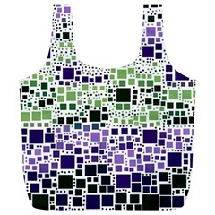Block On Block, Purple Full Print Recycle Bags (l)  by MoreColorsinLife