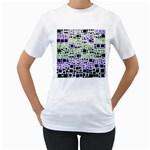 Block On Block, Purple Women s T-Shirt (White)