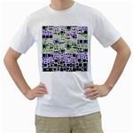 Block On Block, Purple Men s T-Shirt (White)