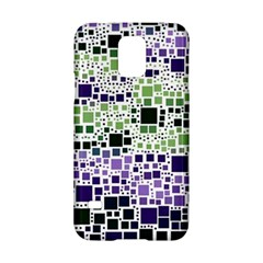 Block On Block, Purple Samsung Galaxy S5 Hardshell Case  by MoreColorsinLife