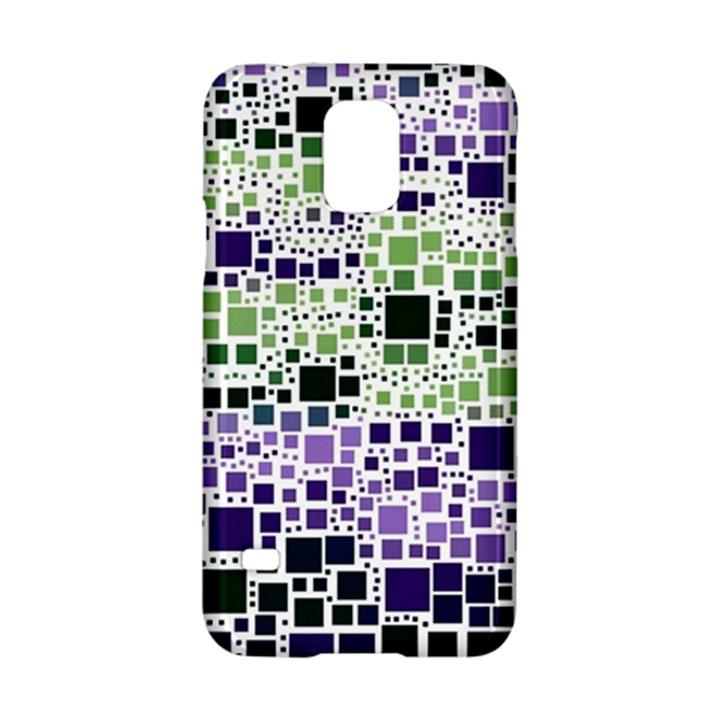 Block On Block, Purple Samsung Galaxy S5 Hardshell Case