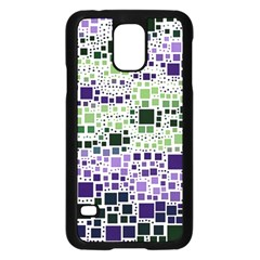 Block On Block, Purple Samsung Galaxy S5 Case (black)