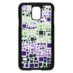 Block On Block, Purple Samsung Galaxy S5 Case (Black)