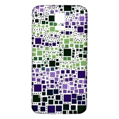 Block On Block, Purple Samsung Galaxy S5 Back Case (white) by MoreColorsinLife