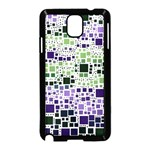 Block On Block, Purple Samsung Galaxy Note 3 Neo Hardshell Case (Black) Front