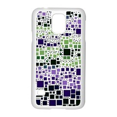 Block On Block, Purple Samsung Galaxy S5 Case (white) by MoreColorsinLife