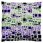 Block On Block, Purple Large Flano Cushion Case (Two Sides) Front