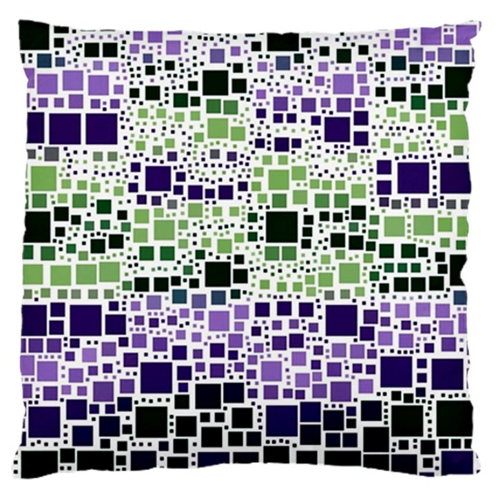 Block On Block, Purple Large Flano Cushion Case (Two Sides)