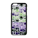 Block On Block, Purple Apple iPhone 6/6S Black Enamel Case Front