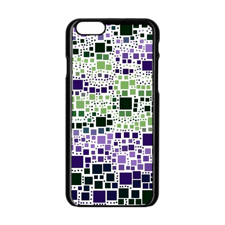 Block On Block, Purple Apple iPhone 6/6S Black Enamel Case
