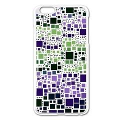 Block On Block, Purple Apple Iphone 6 Plus/6s Plus Enamel White Case by MoreColorsinLife