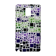 Block On Block, Purple Samsung Galaxy Note 4 Hardshell Case by MoreColorsinLife