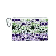 Block On Block, Purple Canvas Cosmetic Bag (s) by MoreColorsinLife