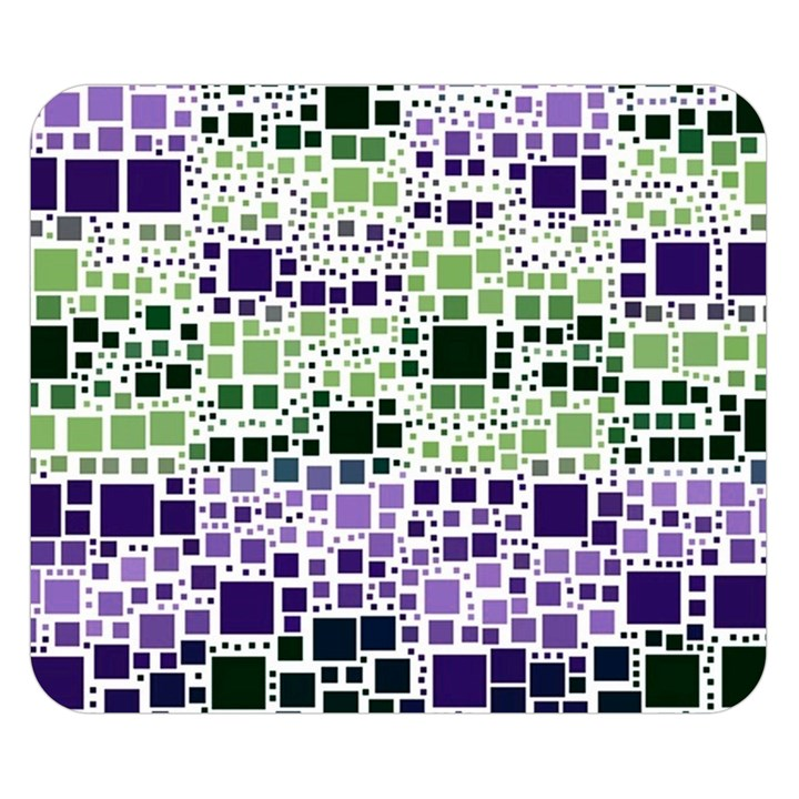 Block On Block, Purple Double Sided Flano Blanket (Small)