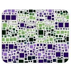 Block On Block, Purple Double Sided Flano Blanket (medium)  by MoreColorsinLife