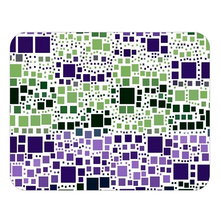 Block On Block, Purple Double Sided Flano Blanket (Large)