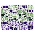 Block On Block, Purple Double Sided Flano Blanket (Large)   Blanket Back