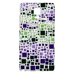 Block On Block, Purple Galaxy Note 4 Back Case by MoreColorsinLife