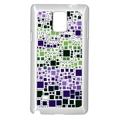 Block On Block, Purple Samsung Galaxy Note 4 Case (white) by MoreColorsinLife
