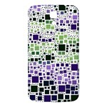 Block On Block, Purple Samsung Galaxy Mega I9200 Hardshell Back Case Front