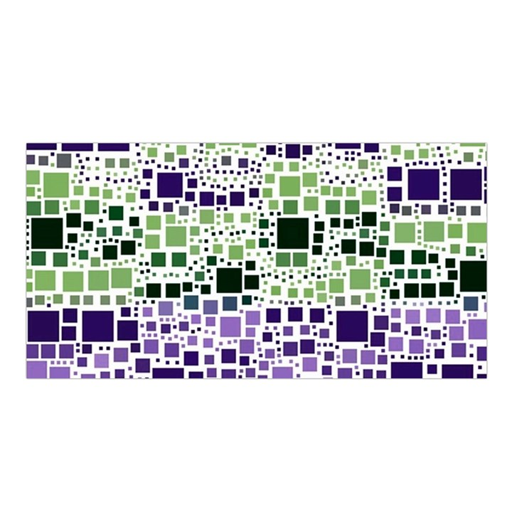 Block On Block, Purple Satin Shawl