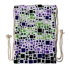 Block On Block, Purple Drawstring Bag (large) by MoreColorsinLife