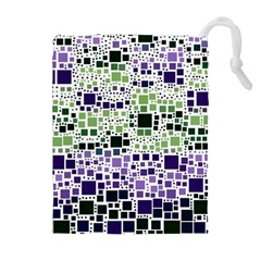 Block On Block, Purple Drawstring Pouches (extra Large) by MoreColorsinLife