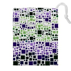 Block On Block, Purple Drawstring Pouches (xxl) by MoreColorsinLife