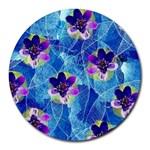 Purple Flowers Round Mousepads