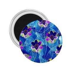 Purple Flowers 2 25  Magnets by DanaeStudio