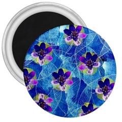 Purple Flowers 3  Magnets by DanaeStudio