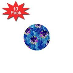 Purple Flowers 1  Mini Buttons (10 Pack)  by DanaeStudio