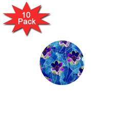 Purple Flowers 1  Mini Magnet (10 Pack)  by DanaeStudio