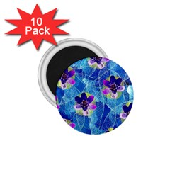 Purple Flowers 1 75  Magnets (10 Pack)