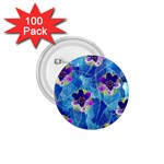 Purple Flowers 1.75  Buttons (100 pack)  Front
