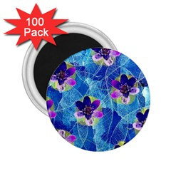 Purple Flowers 2 25  Magnets (100 Pack)