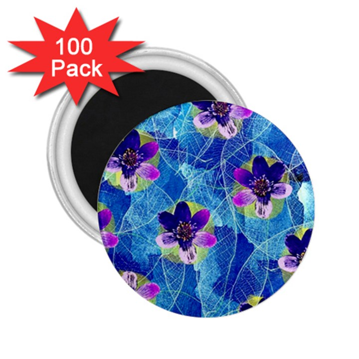 Purple Flowers 2.25  Magnets (100 pack)