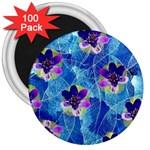 Purple Flowers 3  Magnets (100 pack)