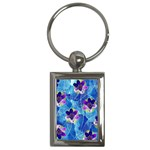 Purple Flowers Key Chains (Rectangle)