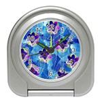 Purple Flowers Travel Alarm Clocks