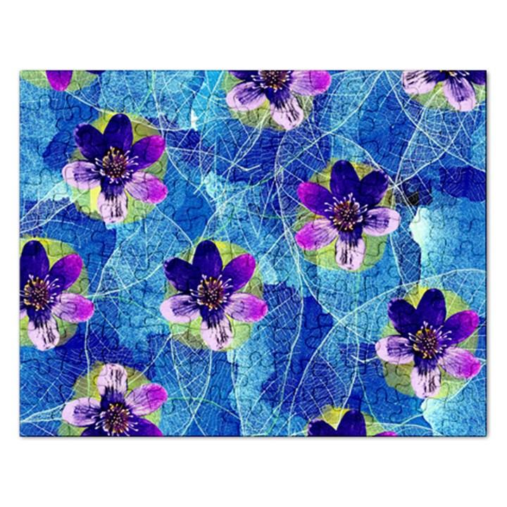 Purple Flowers Rectangular Jigsaw Puzzl