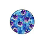 Purple Flowers Hat Clip Ball Marker