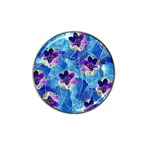 Purple Flowers Hat Clip Ball Marker (4 pack) Front